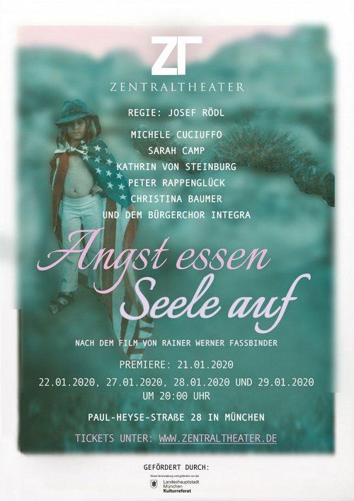 Darstellung einer Produktion Angst essen Seele auf nach dem Film von Rainer Werner Fassbinder