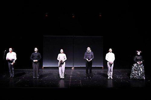 Darstellung einer Produktion Die Tragödie des Macbeth von William Shakespeare 3/3